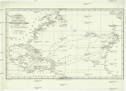 Chart shewing the tracks across the north Atlantic ocean of don Christopher Columbus