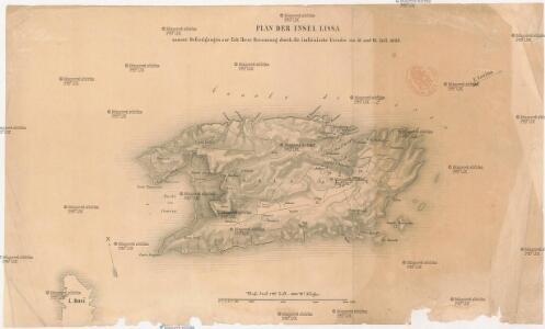 Plan der Insel Lissa
