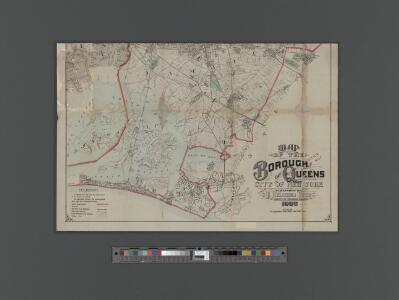 [Pocket] Map of the Borough of Queens, New York City.