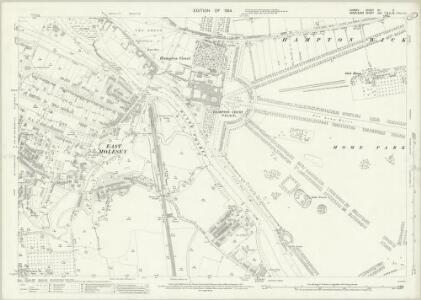 Surrey XII.3 (includes: East Molesey; Thames Ditton; Twickenham St Mary The Virgin) - 25 Inch Map
