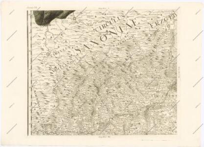 Mappa geographica regni Bohemiae in duodecim circuloc divisae ... Sectio. VI.