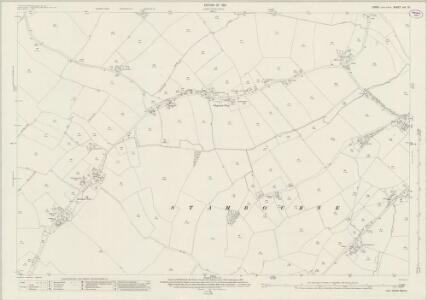 Essex (New Series 1913-) n IX.15 (includes: Birdbrook; Stambourne; Steeple Bumpstead) - 25 Inch Map