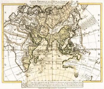 Carte physique de la mer des Indes