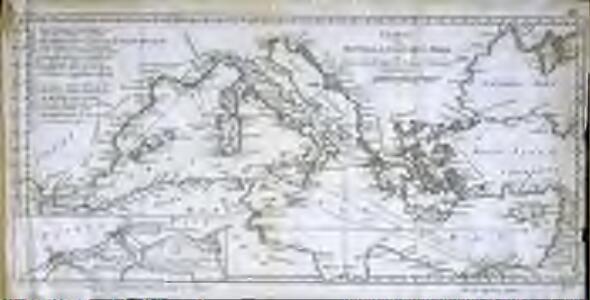 Charte vom mittellændischen Meer
