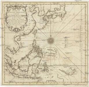 Suite de l'Ocean oriental contenant les isles de la Sonde les costes de Tunquin et de la Chine les isles du Japon les Philippines Moluques