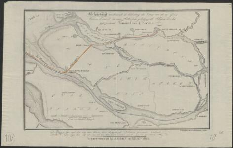 Schetskaart, aantoonende de bekorting der vaart van de in Goeree binnen komende en naar Rotterdam gedestineerde schepen door het geprojecteerde kanaal van Voorne