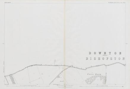 Wiltshire LXX.16 (includes: Bishopstone; Broad Chalke; Martin) - 25 Inch Map
