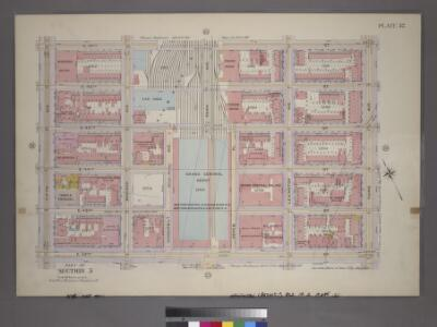 Plate 32, Part of Section 5: [Bounded by E. 47th Street, Third Avenue, E. 42nd Street and Fifth Avenue.]