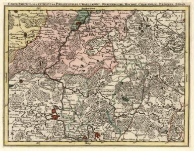 Carte Particul. des environs de Philippeville, Charlemont, Marienbourg, Rocroy, Charleville, Mezieres, Sedan