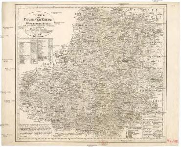 Charte vom Prachiner Kreise des Königreiches Böheim