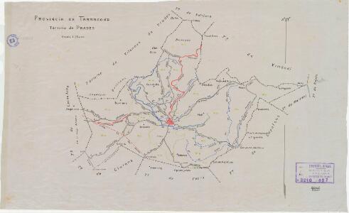 Mapa planimètric de Prades