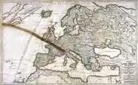 Der Austritt des Mond=Schattens von der Erd=Kugel/ oder das zum Theil eine Finsternuss leidende/ zum Theil davon frey bleibende Europa