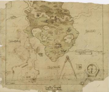Mapa panství Stráž s hranicemi pantví třeboňského, novobystřického a jindřichohradeckého