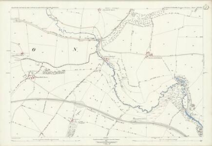 Gloucestershire XXVIII.7 (includes: Aston Blank; Naunton; Upper Slaughter) - 25 Inch Map