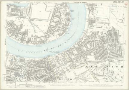 London (Edition of 1894-96) XCII (includes: Borough Of Greenwich; Poplar Borough) - 25 Inch Map