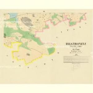 Bratronitz (Bratronice) - c0479-1-004 - Kaiserpflichtexemplar der Landkarten des stabilen Katasters