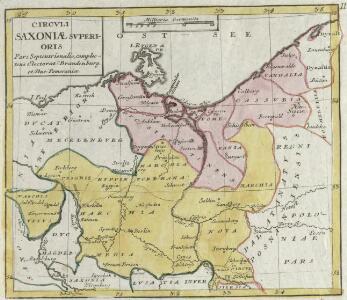 Circvli Saxoniae Svperioris Pars Septentrionalis, complectens Electorat. Brandenburg et Duc. Pomeraniae