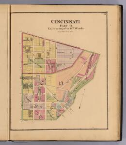Cincinnati 6, wards 9, 13.