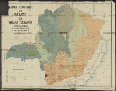 Mapa geologico do estado de Minas Geraes