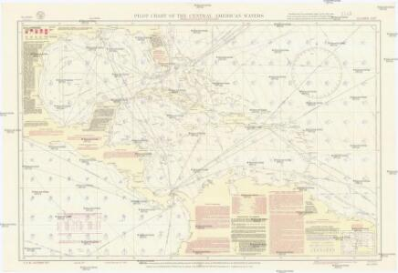 Pilot chart of the Central American waters