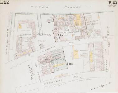 Insurance Plan of London South West District Vol. K: sheet 22-1