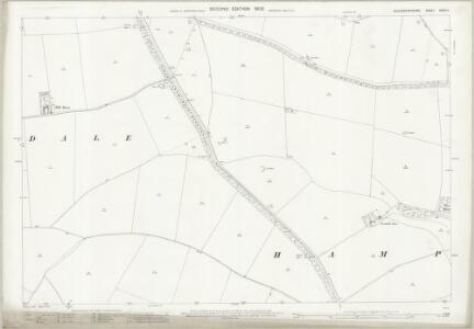 Gloucestershire XXXVI.5 (includes: Compton Abdale; Hampnett; Haselton; Turkdean; Yanworth) - 25 Inch Map