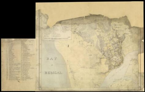 Fragment of map of Chittagong (Bengal), 23 January, 1818, by John Cheape, Bengal Engineers.