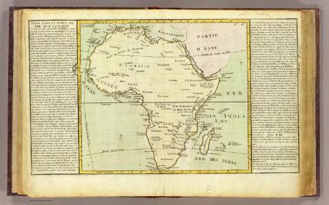 L'Afrique isles, caps, ports.