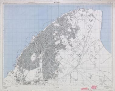 Plans of towns in Kuwait. GSGS 4879, (1956) Ahmadi Mina-al