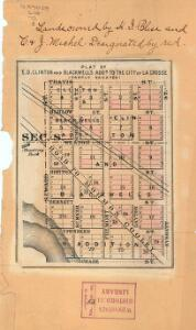 Plat of E.D. Clinton and Blackwell's add'n to the city of La Crosse (partly vacated)