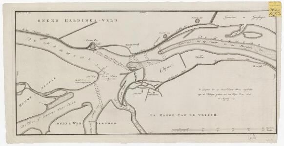 [Kaart van de Merwede van Hardinxveld tot Sleeuwijk]: [Melchior Bolstra]