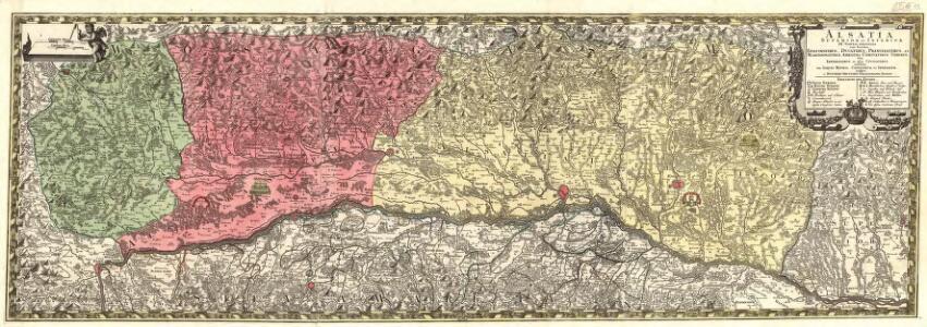 Alsatia Superior et Inferior III. Tabulis