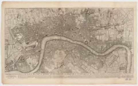To Martin Folkes esq.r, president of the Royal Society : this plan of the cities of London and Westminster and borough of Southwark, with the contiguous buildings is humbly inscribed