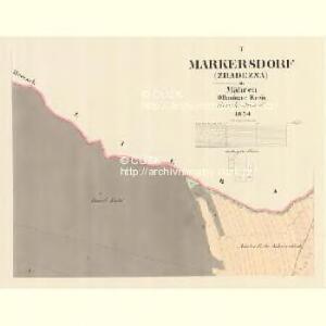 Markersdorf (Zradezna) - m0890-1-001 - Kaiserpflichtexemplar der Landkarten des stabilen Katasters