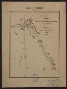 Mission Galliéni 1880-1881. Itinéraire de Ba-Oulé, Sambabougou, Dogofili