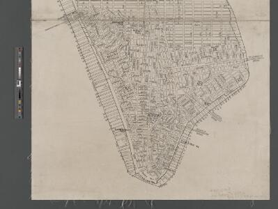 Map of New York City from Battery to 60th Street.