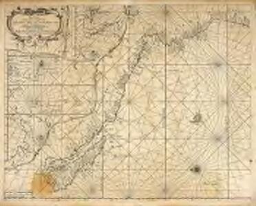 Pascaart vertoonende de zeecusten van Chili, Peru, Hispania Nova, Nova Granada, en California
