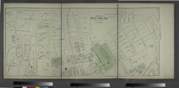 Part of Flushing. Town of Flushing, Queens Co. [Includes Boerum Avenue, Brewster Avenue, Parsons Avenue, Sanford Avenue, Jamaica Avenue, Ireland Avenue, Whittier Avenue, Tennyson Avenue and Longfellow Avenue.]