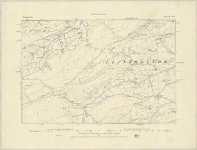 Montgomeryshire IX.SE - OS Six-Inch Map