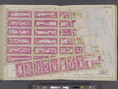 Manhattan, V. 4, Double Page Plate No. 20 [Map bounded by 7th St., East River, Stanton St., Ave. B]