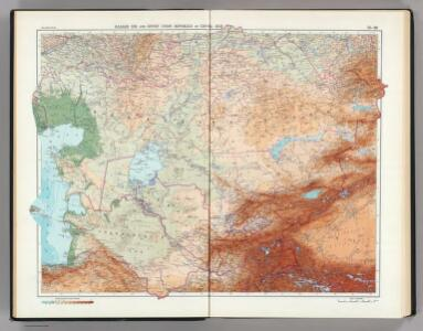 25-26.   Kazakh SSR and Soviet Union Republics in Central Asia.  The World Atlas.