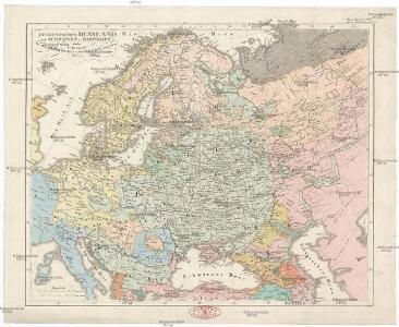 Europaeisches Russland auch Schweden u. Norwegen dabei Uebersicht des oesterreichischen u. preussischen Staats