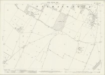 Kent LVIII.5 (includes: Eythorne; Tilmanstone) - 25 Inch Map