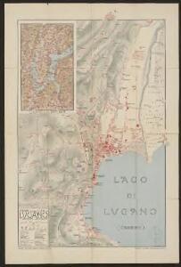Pianta della città di Lugano e comuni limitrofi