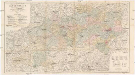 Karte des Erzherzogthumes Oesterreich ob und unter der Enns und des Herzogthumes Salzburg