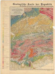 Geologische karte der Republik Österreich und der Nachbargebiete: Die Ostalpen, ihre Ausläufer und Vorlande nebst den angrenzenden Teilen der fränkisch-schwäbischen Alb und des böhmischen Massivs