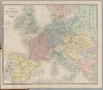 Carte Generale des Chemin de Fer Europeens.