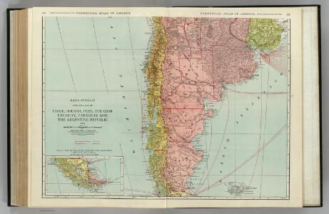 Chile, Bolivia, Peru, Ecuador, Uruguay, Paraguay, Argentine Republic. (southern half).