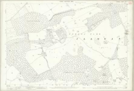 Cornwall LXIII.1 (includes: Camborne Redruth) - 25 Inch Map