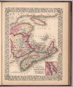 County map of Nova Scotia, New Brunswick, Cape Breton Id., and Pr. Edward's Id.